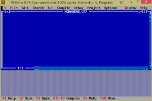 Turbo C++ on Windows 8