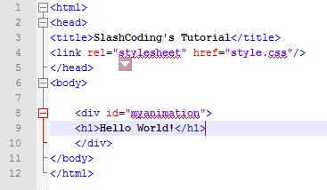 CSS Animation HTML Part