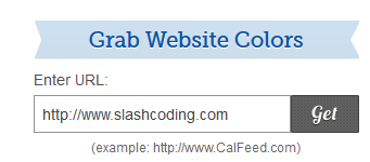 Grab Website Colors