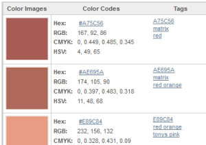 HEX Codes