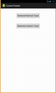 Android Toast Generation Application