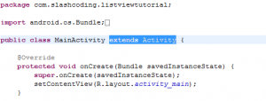 Extending MainActivity ListView