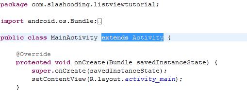 Extending MainActivity ListView