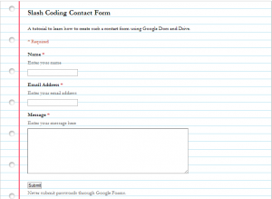 Simple Form Preview