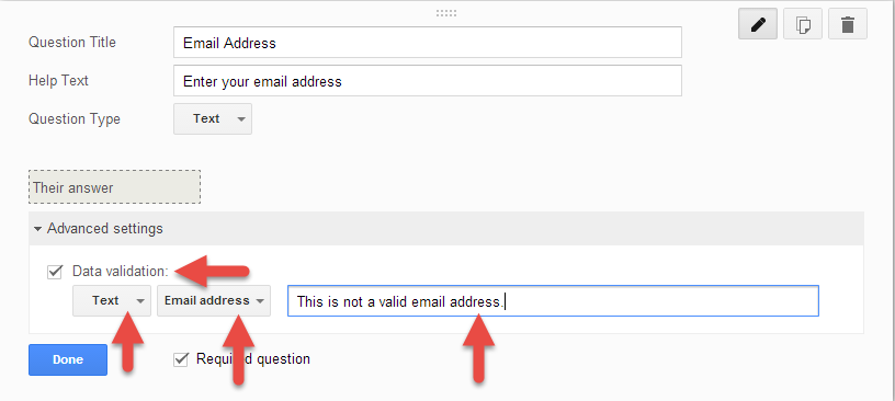 Email Validation in Google Drive Form
