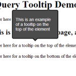 jQuery Tooltip Example