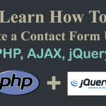 Learn How to Create a contact Form using AJAX and PHP