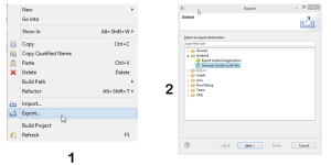 Settings to Export Android Project from Eclipse