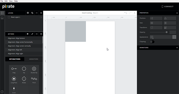 Pixate Studio Layout