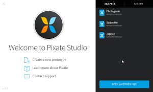 Pixate Studio New Project