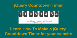 How to Create a Countdown Timer using jQuery