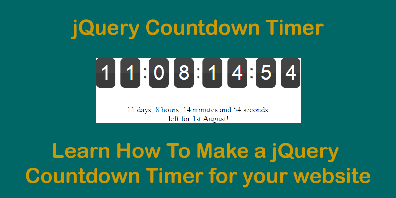 Countdown Timer using jQuery