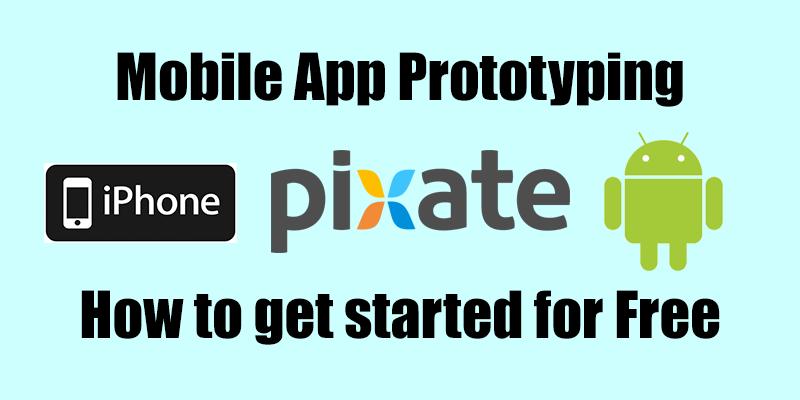 Mobile App Prototyping : Pixate Studio